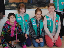 Girl Scouts learn, have fun, and earn badges in MCM workshops.