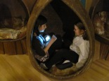 "Anika interviews Liliana in a ""pod"" in the Wildernest"