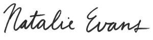 Natalie Evans signature